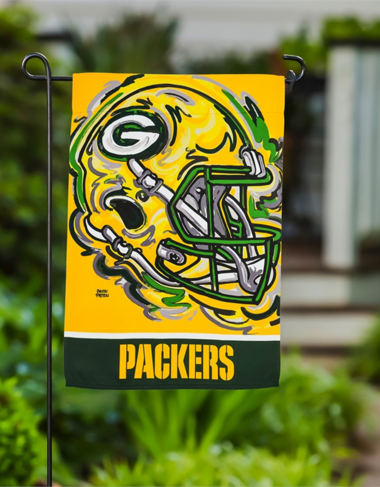 EVERGREEN Green Bay Packers Justin Pattern Garden Flag