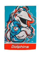 EVERGREEN Miami Dolphins Justin Pattern Garden Flag