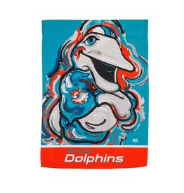 EVERGREEN Miami Dolphins Justin Pattern Garden Flag