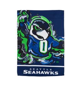 EVERGREEN Seattle Seahawks Justin Pattern Garden Flag