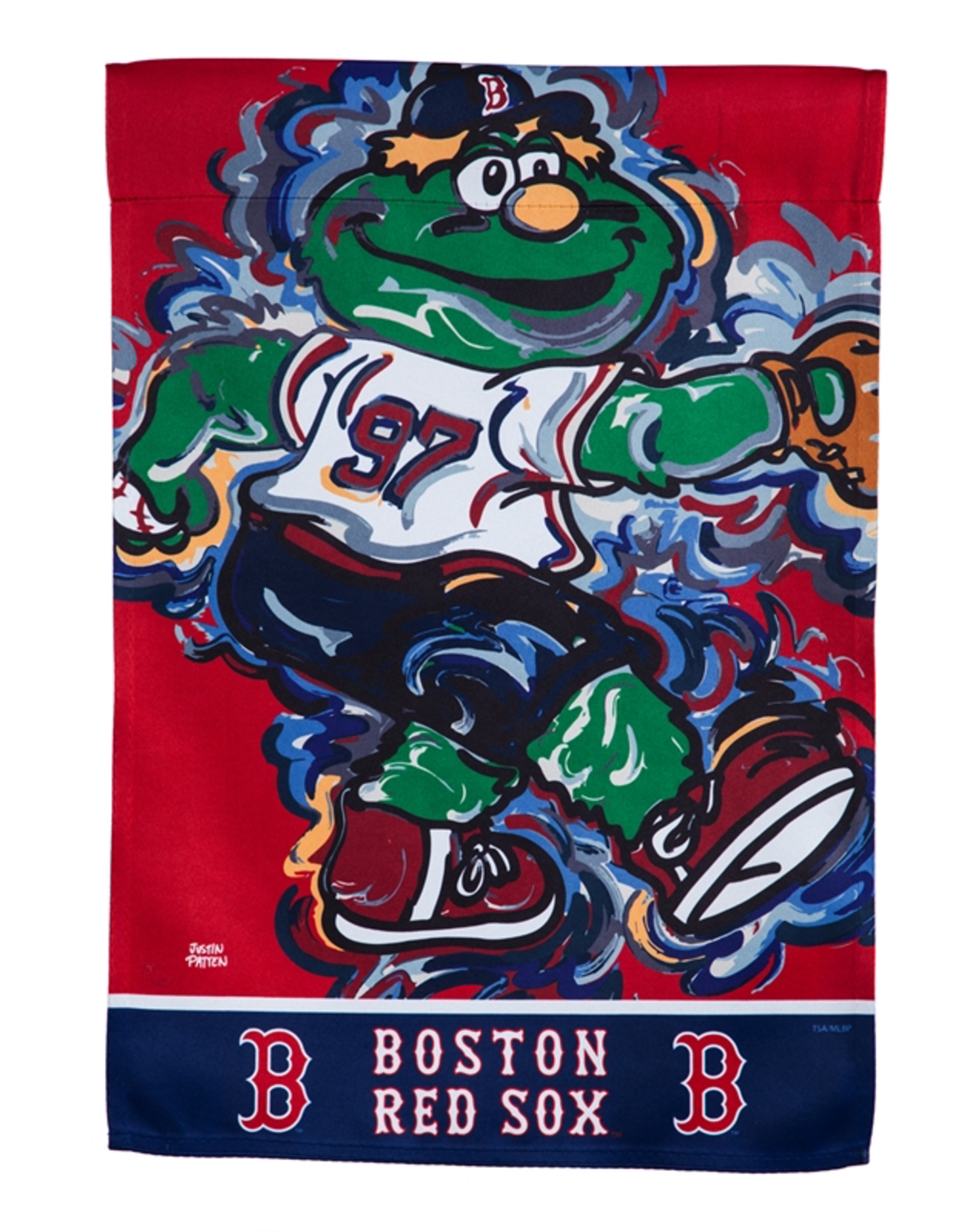 EVERGREEN Boston Red Sox Justin Pattern Garden Flag