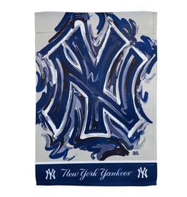 EVERGREEN New York Yankees Justin Pattern Garden Flag