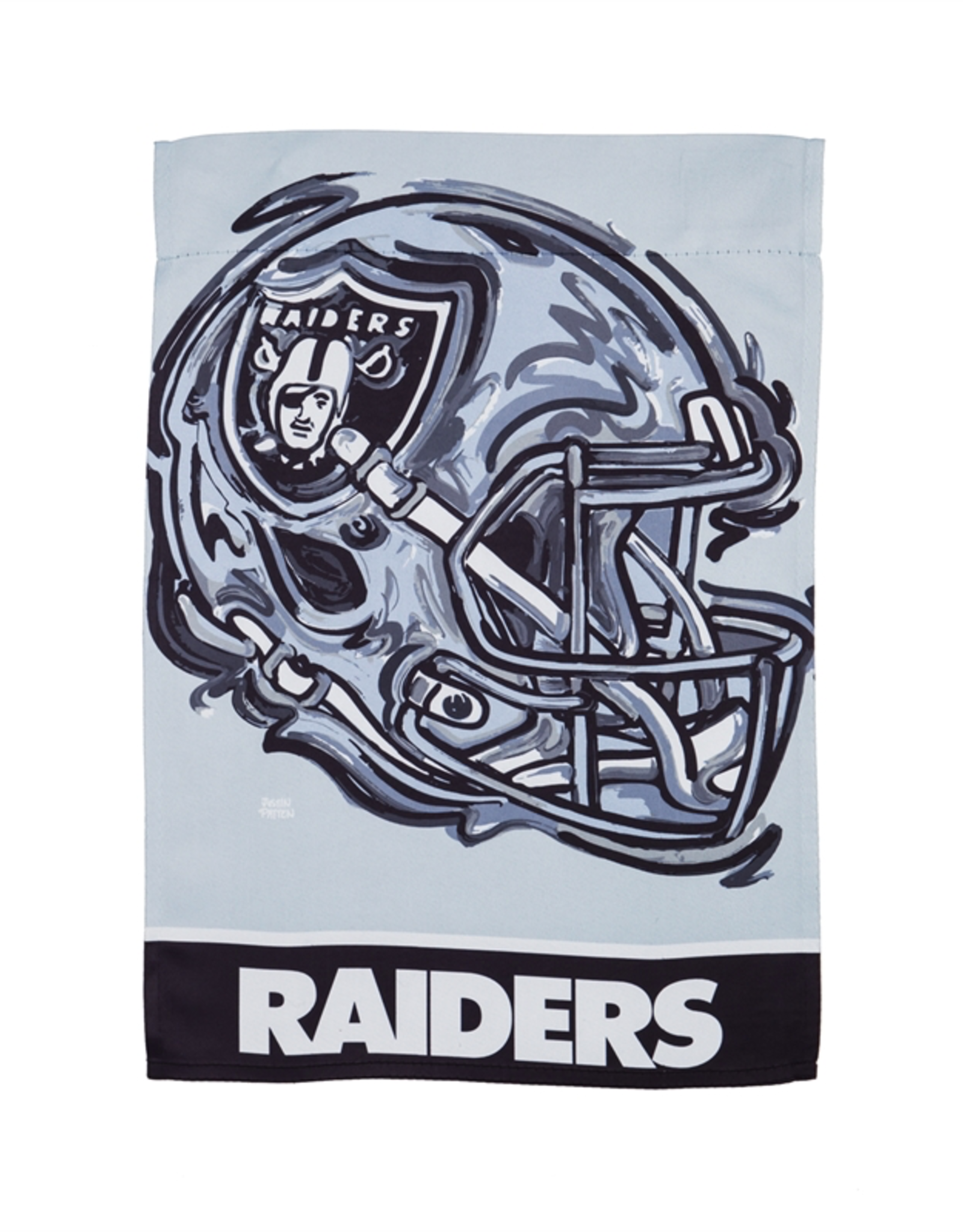 EVERGREEN Las Vegas Raiders Justin Pattern Garden Flag