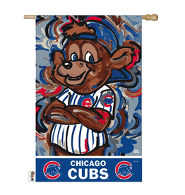 EVERGREEN Chicago Cubs Justin Pattern Garden Flag