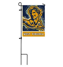 EVERGREEN West Virginia Mountaineers Justin Pattern Garden Flag