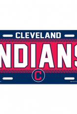 WINCRAFT Cleveland Indians Plastic License Plate