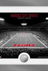 HIGHLAND MINT Kansas City Chiefs Framed Art Deco Stadium with Silver Coin