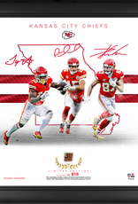 "MOUNTED MEMORIES Kansas City Chiefs LIMITED EDITION Framed 15"" x 17"" Franchise Foundations Collage with a Piece of Game Used Football"