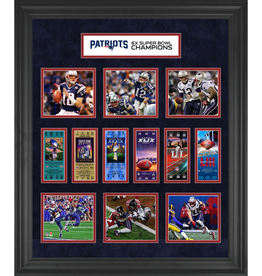 MOUNTED MEMORIES New England Patriots Super Bowl Replica Ticket & Photograph Collage
