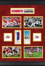 MOUNTED MEMORIES Kansas City Chiefs Super Bowl Replica Ticket & Photograph Collage