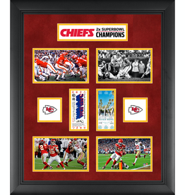 MOUNTED MEMORIES Kansas City Chiefs Super Bowl Replica Ticket & Photograph Collage