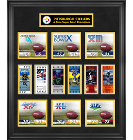 MOUNTED MEMORIES Pittsburgh Steelers Super Bowl Replica Ticket & Photograph Collage