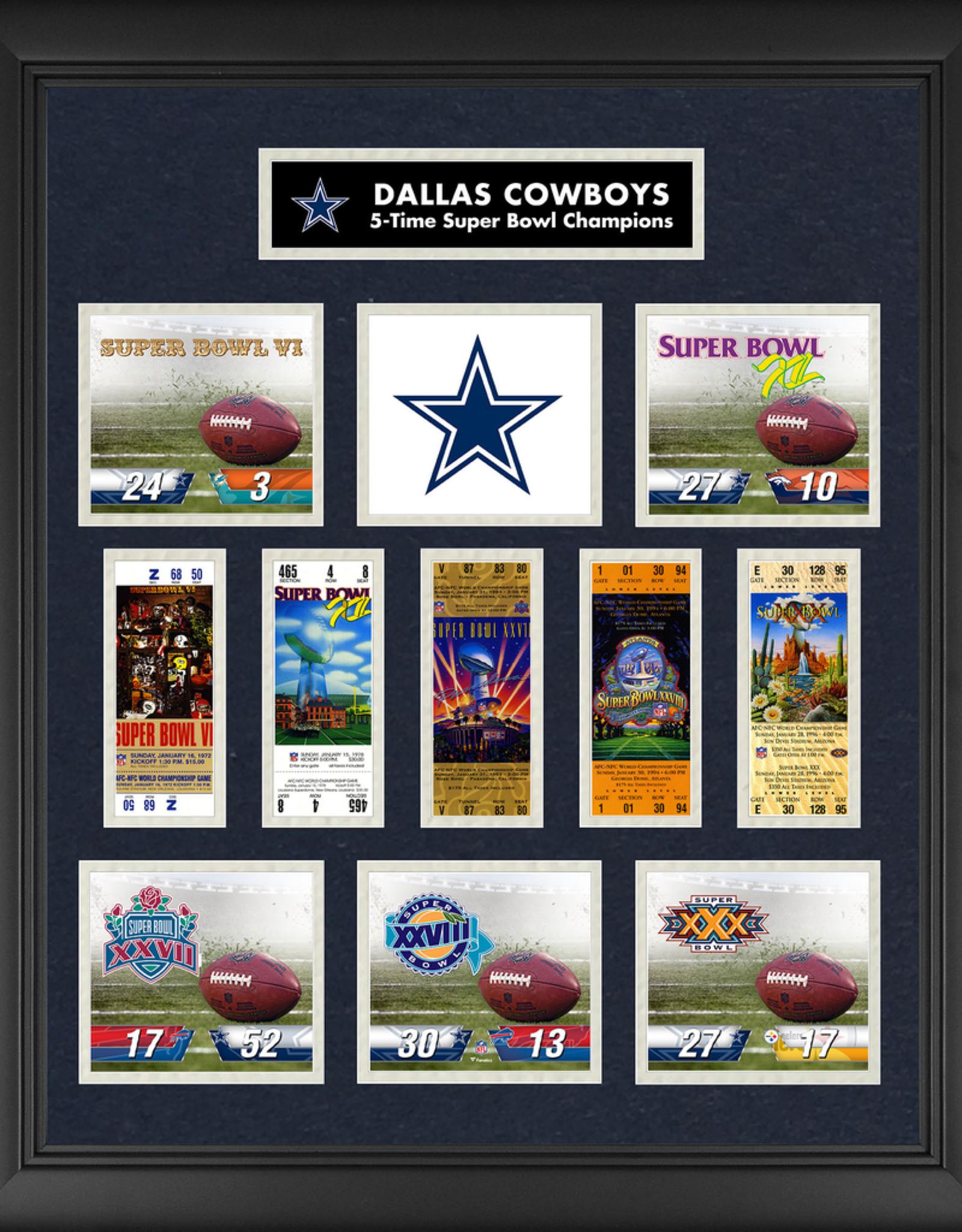 MOUNTED MEMORIES Dallas Cowboys Super Bowl Replica Ticket & Photograph Collage
