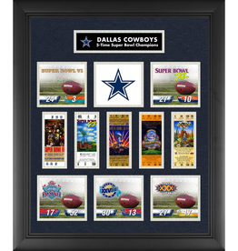 MOUNTED MEMORIES Dallas Cowboys Super Bowl Replica Ticket & Photograph Collage