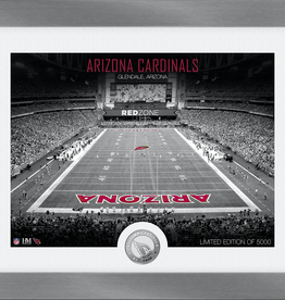 HIGHLAND MINT Arizona Cardinals Framed Art Deco Stadium with Silver Coin