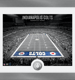 HIGHLAND MINT Indianapolis Colts Framed Art Deco Stadium with Silver Coin