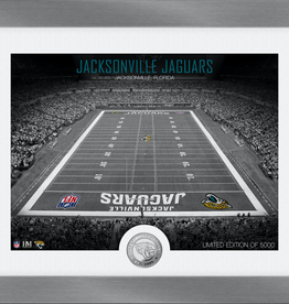 HIGHLAND MINT Jacksonville Jaguars Framed Art Deco Stadium with Silver Coin