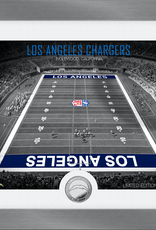 HIGHLAND MINT Los Angeles Chargers Framed Art Deco Stadium with Silver Coin