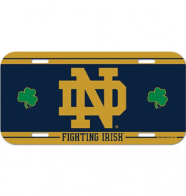 WINCRAFT Notre Dame Fighting Irish Plastic License Plate