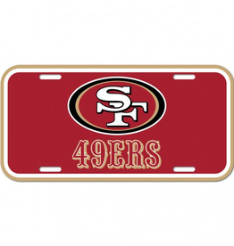 WINCRAFT San Francisco 49ers Plastic License Plate