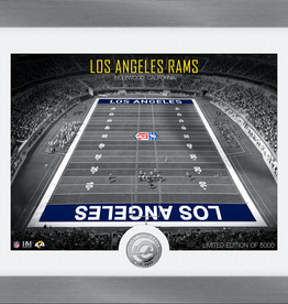 HIGHLAND MINT Los Angeles Rams Framed Art Deco Stadium with Silver Coin