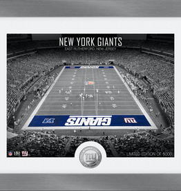 HIGHLAND MINT New York Giants Framed Art Deco Stadium with Silver Coin