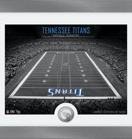 HIGHLAND MINT Tennessee Titans Framed Art Deco Stadium with Silver Coin
