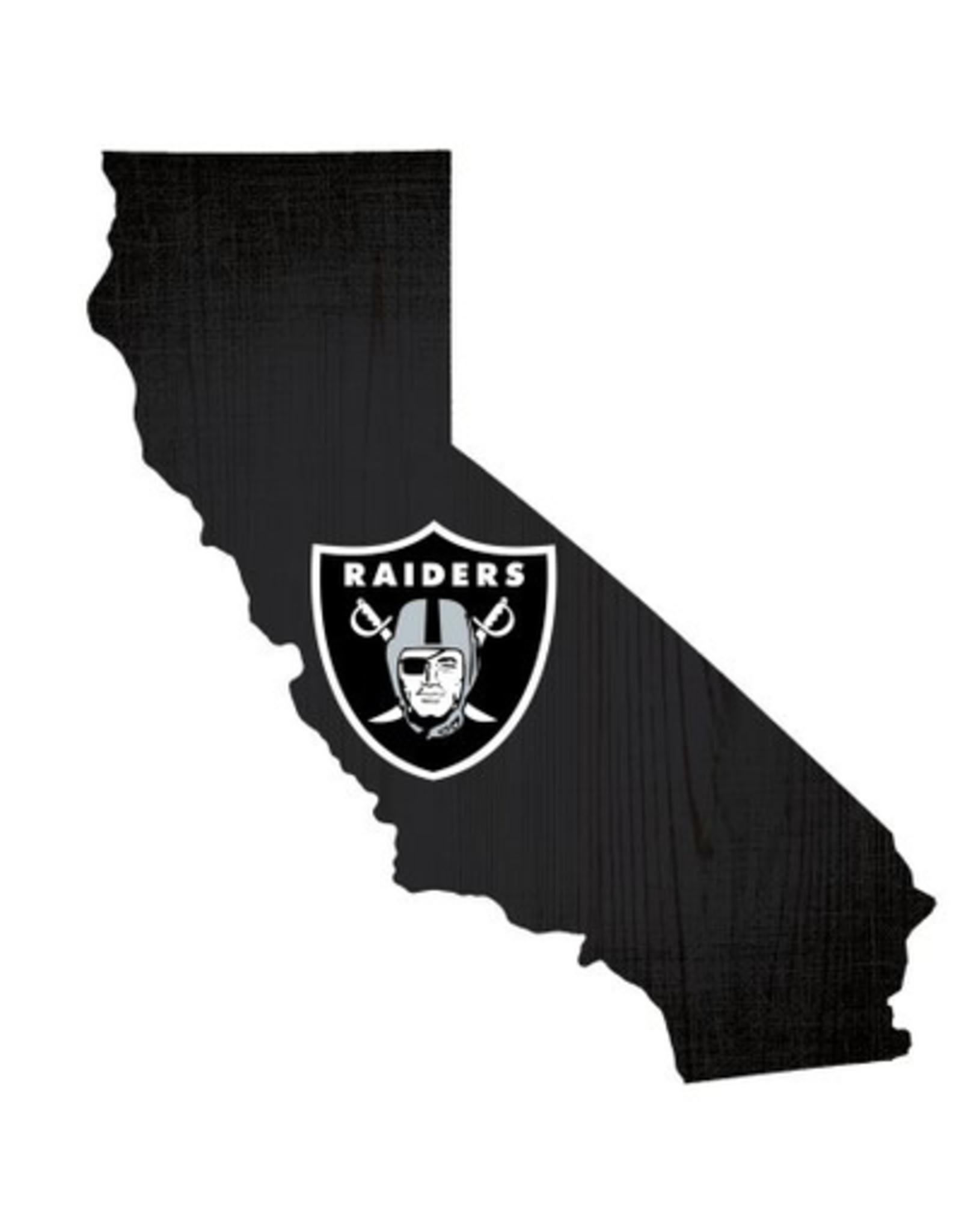 FAN CREATIONS Las Vegas Raiders Team Logo State Sign