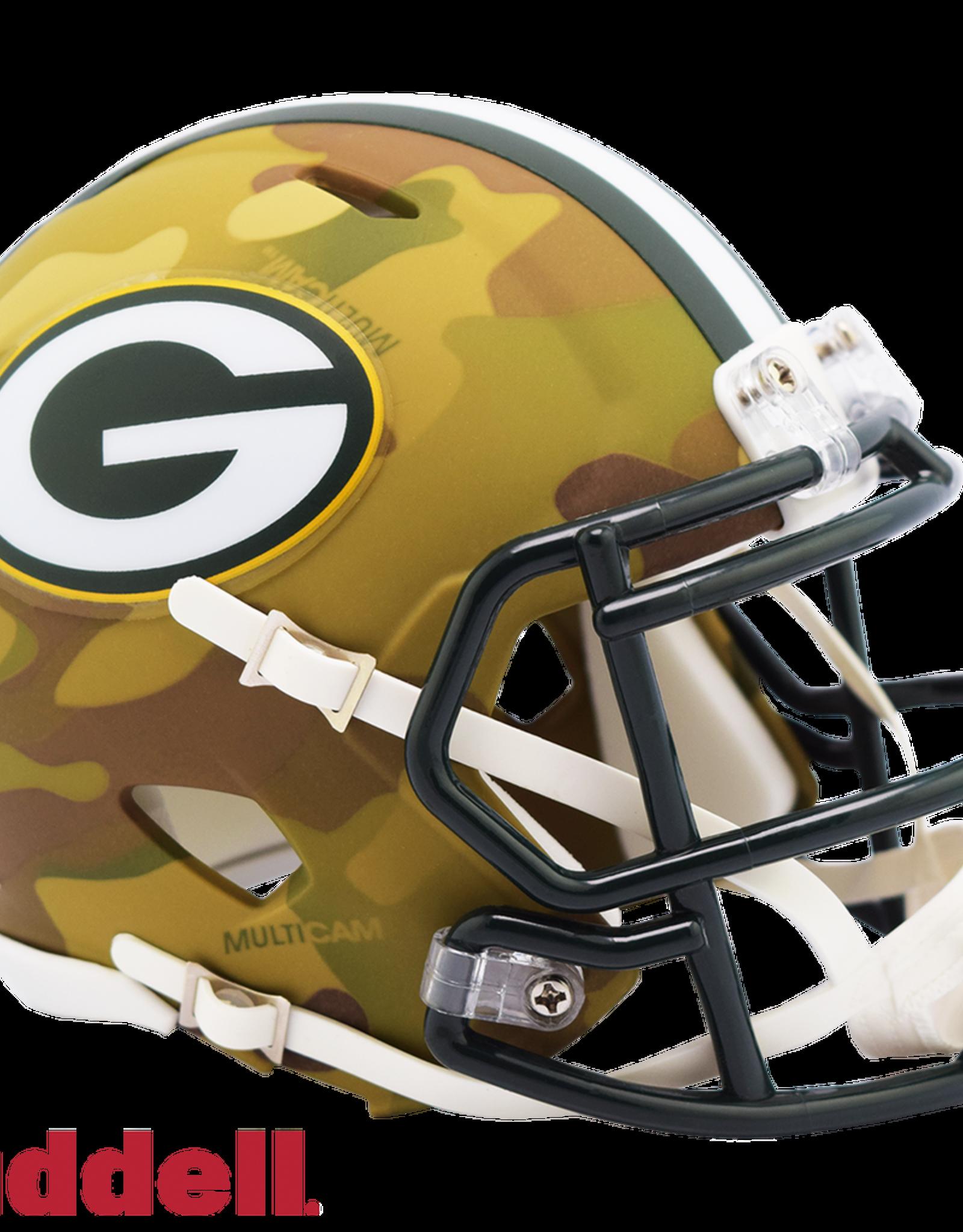 RIDDELL Green Bay Packers Riddell CAMO Alternate Mini Speed Helmet