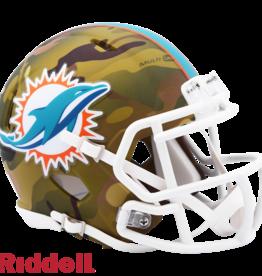 RIDDELL Miami Dolphins Riddell CAMO Alternate Mini Speed Helmet