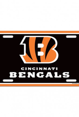 WINCRAFT Cincinnati Bengals Plastic License Plate