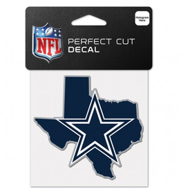 "WINCRAFT Dallas Cowboys 4"" x 4"" State Shaped Perfect Cut Decals"