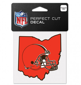 "WINCRAFT Cleveland Browns 4"" x 4"" State Shaped Perfect Cut Decals"