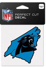 "WINCRAFT Carolina Panthers 4"" x 4"" State Shaped Perfect Cut Decals"