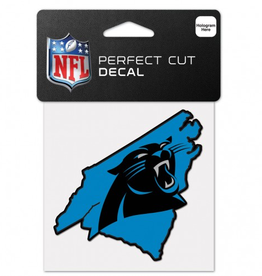 "WINCRAFT Carolina Panthers 4"" x 4"" State Shaped Perfect Cut Decals"