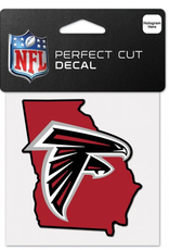 """WINCRAFT Atlanta Falcons 4"""" x 4"""" State Shaped Perfect Cut Decals"""