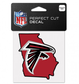 "WINCRAFT Atlanta Falcons 4"" x 4"" State Shaped Perfect Cut Decals"