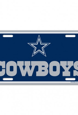 WINCRAFT Dallas Cowboys Plastic License Plate