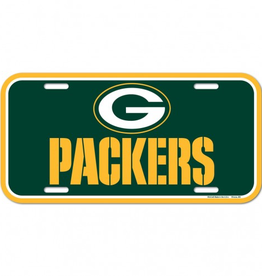 WINCRAFT Green Bay Packers Plastic License Plate