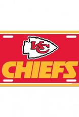 WINCRAFT Kansas City Chiefs Plastic License Plate