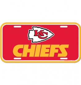 WINCRAFT Kansas City Chiefs Plastic License Plate