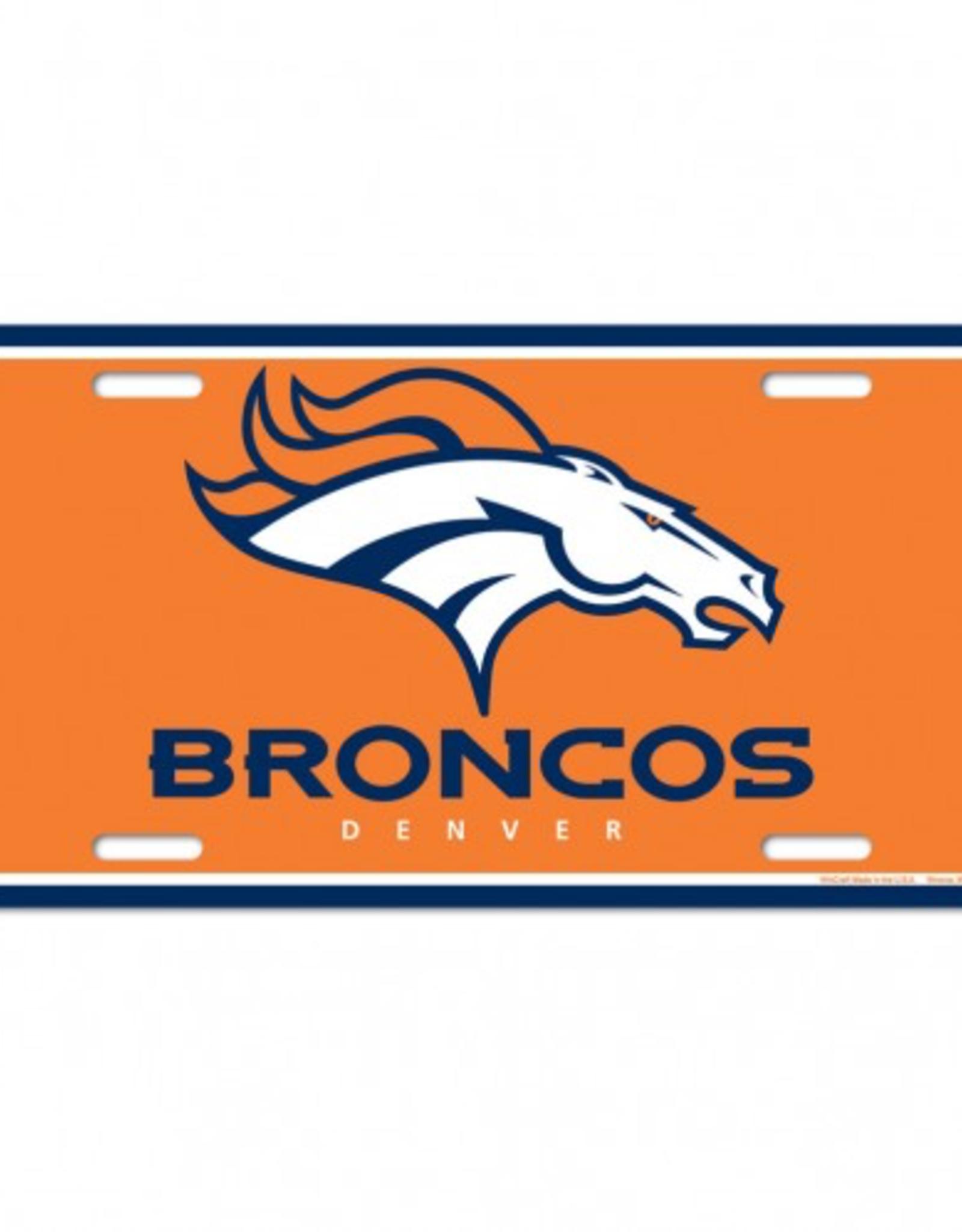 WINCRAFT Denver Broncos Plastic License Plate