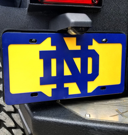 GAMEDAY IRONWORKS Notre Dame Fighting Irish Logo License Plate & Backer