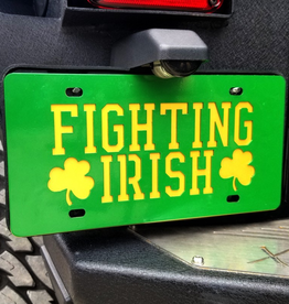GAMEDAY IRONWORKS Notre Dame Fighting Irish Fighting Irish License Plate & Backer