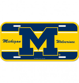 WINCRAFT Michigan Wolverines Plastic License Plate