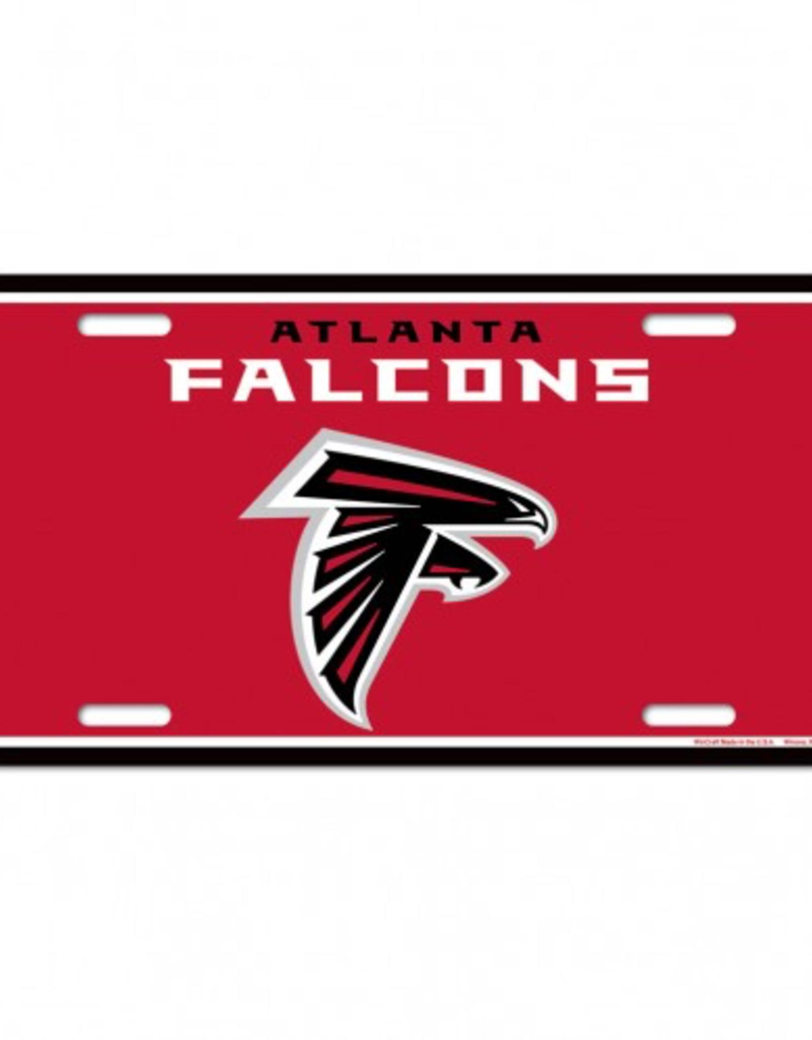 WINCRAFT Atlanta Falcons Plastic License Plate