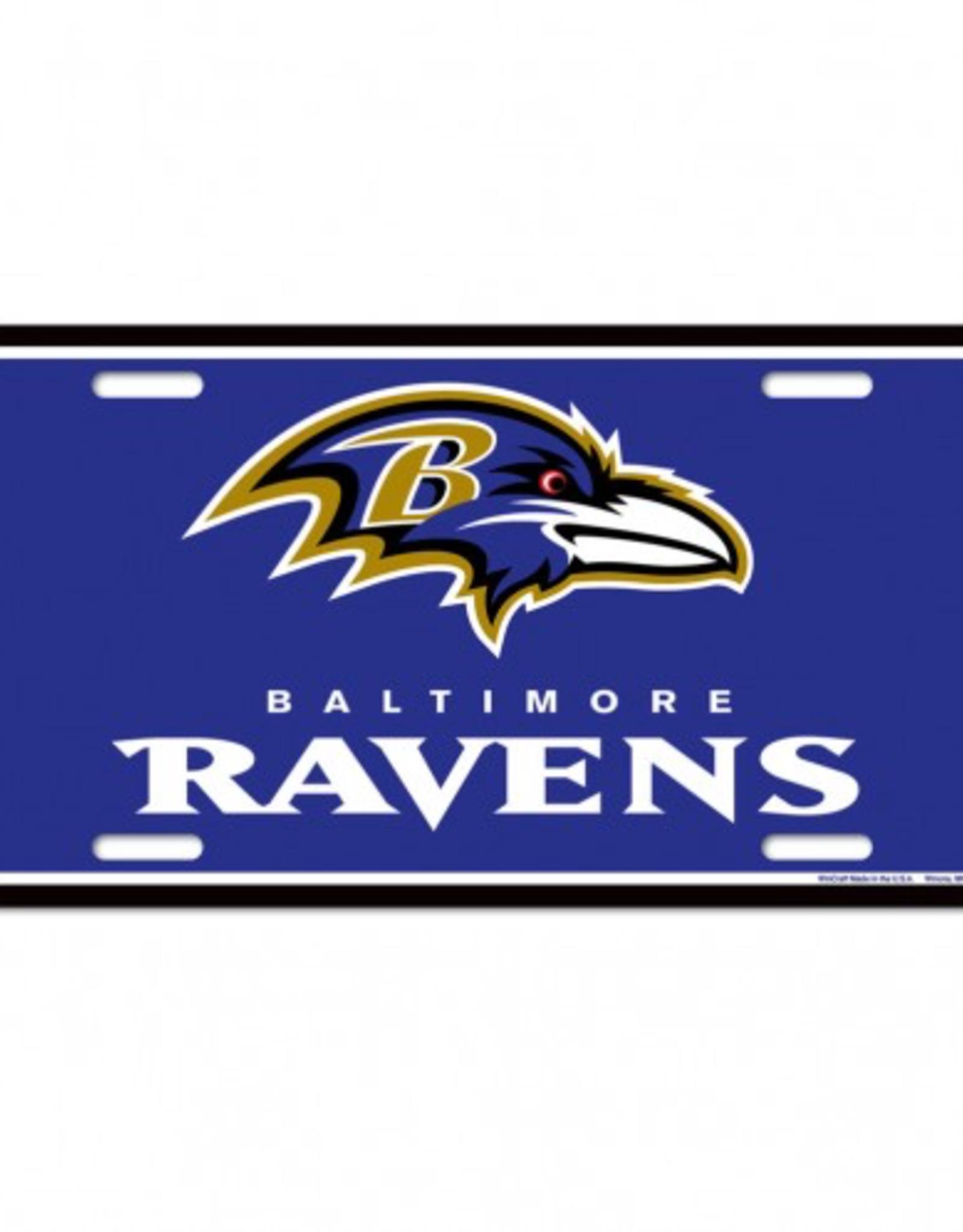 WINCRAFT Baltimore Ravens Plastic License Plate