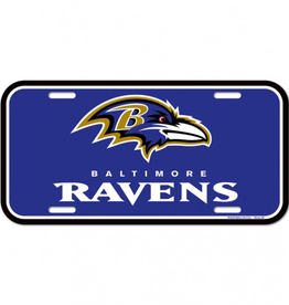 WINCRAFT Baltimore Ravens Plastic License Plate