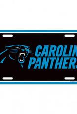WINCRAFT Carolina Panthers Plastic License Plate