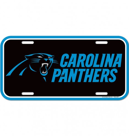 WINCRAFT Carolina Panthers Plastic License Plate